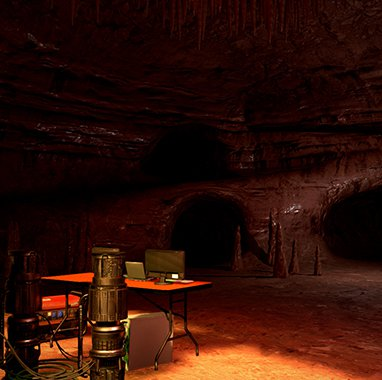 Escenario con túneles en The Brookhaven Experiment