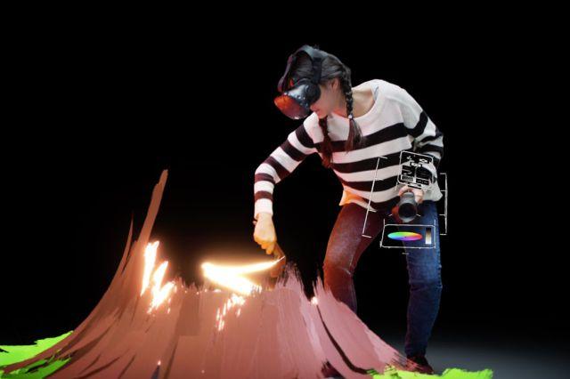 Experiencia de realidad virtual Tilt Brush de Google