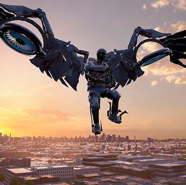 Villano del videojuego Spiderman: homecoming de realidad virtual