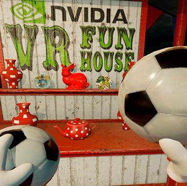 Juega a las barracas y demuestra tu puntería con pelota en NVIDIA VR Funhouse
