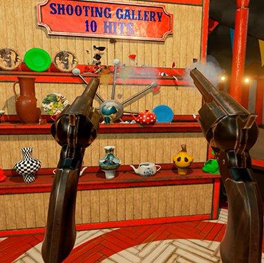Juega las barracas y prueba tu puntería con revolver en NVIDIA VR Funhouse