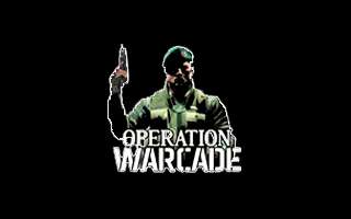 Logotipo de Operation Warcade en realidad virtual
