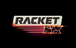 Logotipo del juego de raqueta en realidad virtual Racket NX