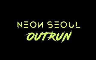 Logotipo del juego de motos en vr Neon Seoul Outrun